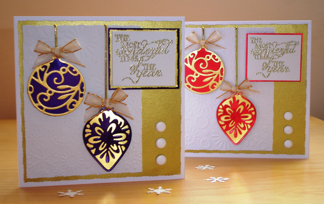 handmade cards for sale sale luxury handmade bauble cards folksy 2078
