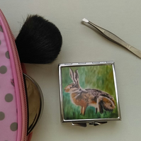 Hare Compact Mirror