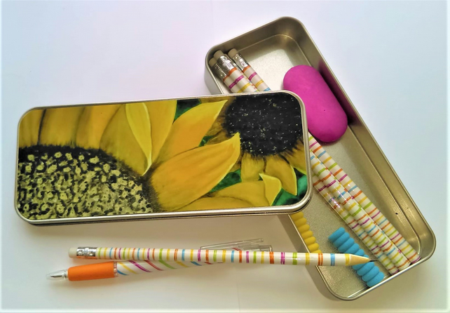 Sunflower Tin Pencil Case