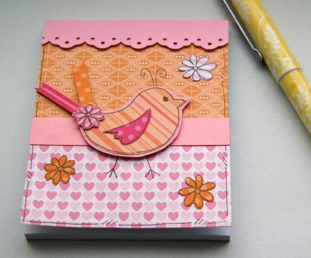 Little Bird - Decorated Notepad
