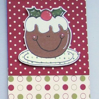 Sale - 25% off- Christmas Pudding Decorated Notepad Jotter