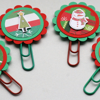 Christmas Character Paperclip Bookmarks - Set of Four