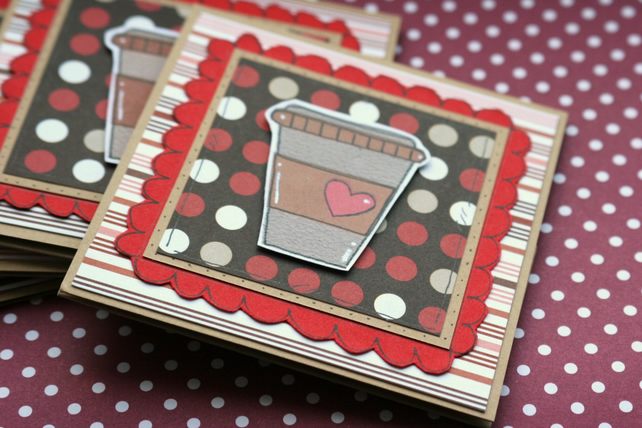 Coffee Gift Card Wallet - Thanks a Latte - Handcrafted Money Holder - Friend
