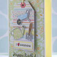 Birthday Card, Gardening, Gardener, Love, Hanging Tag Decoration, Gift