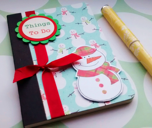 Christmas Notebook - Snowman - Things To Do - Christmas Lists - Stocking Filler