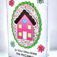 New Home Card - Personalised - Handcrafted - Moving House Card - Good Luck