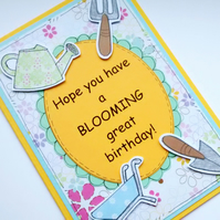 Birthday Card - Gardening - Gardener's Card - Female Birthday - Blooming Great