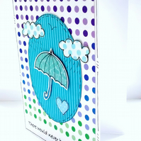 Motivational Card - Umbrella - Encouragement Card - Rainbow - Cheer Up SALE