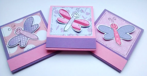 Notepads - Dragonflies - Matchbook Style - Stationery - Stocking Filler - Girls