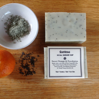 Sweet Orange & Eucalyptus Natural Handmade Soap 110g  - Vegan Friendly