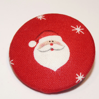 Fabric Covered Buttons - handmade for Christmas