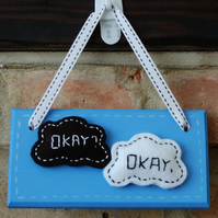 Handmade 'The Fault in our Stars' 'TFIOS' inspired 'Okay? Okay.' Sign