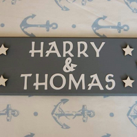 Baby Nursery Star Name sign Name plaque. Any Name Names, Any colours. Baby Gift.