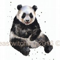 Watercolour Panda Print