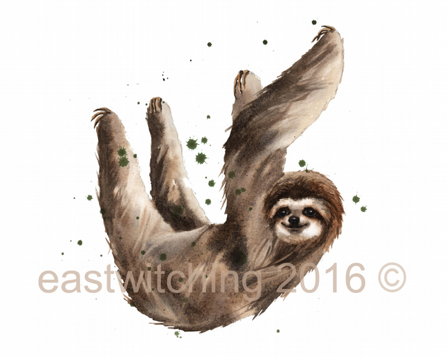 Sloth Watercolour Print