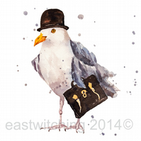 Watercolour SEAGULL Art Print