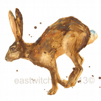Watercolour Hare Art Print 8x10inches