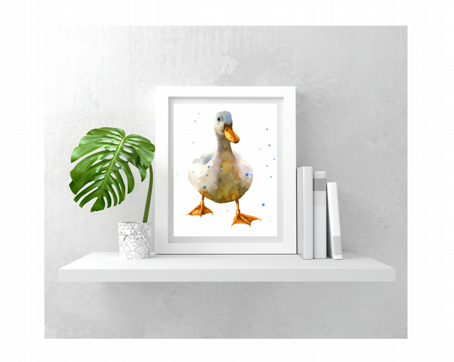WATERCOLOUR Duck print
