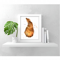 Watercolor Rabbit print - adding Peter Rabbit charm to the nursery