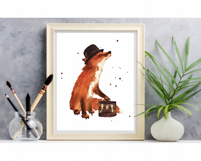 Charming FOX Art print - 8x10 inches - simple to frame