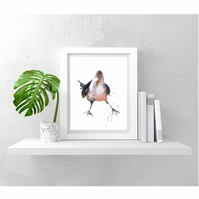 Bathroom Decor Seagull Print - 8x10 inch and ready to frame