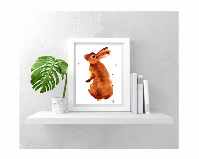 BUNNY Painting - Print taken from original - 8x10 inches - Caramella