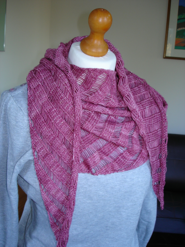 Crushed Raspberry Scarf with a hint of sparkle