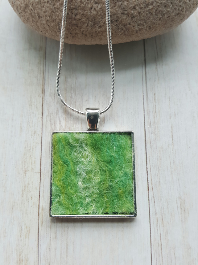 Felt Pendant Necklace