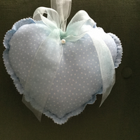 Blue fabric heart