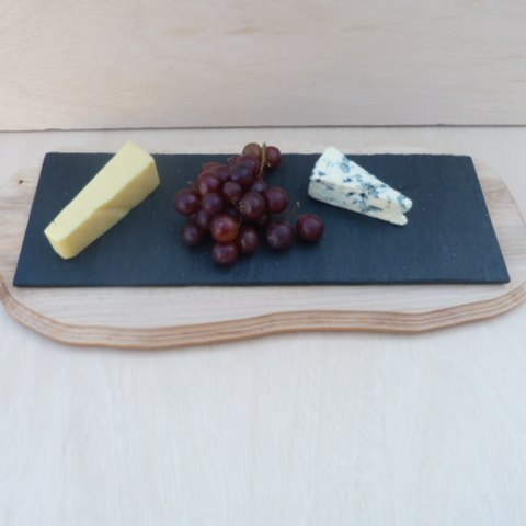 SLATE  and  HARDWOOD  CHEESE  BOARD