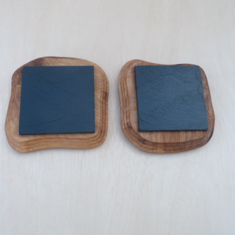 SLATE  and  WOOD  COASTERS