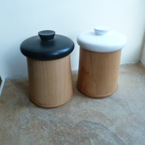 A  PAIR  OF  MEDIUM  KITCHEN  CONTAINERS