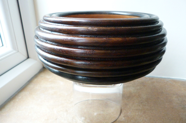 STAINED OAK BOWL