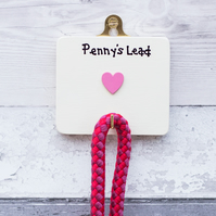 Dog lead hook with heart. Pets. Dogs. New Puppy gift. Personalised.