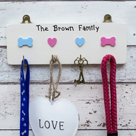 Dogs Leads and Keys Hanger - Personalised - Dog Owner Gift - Xmas - Dog Lover