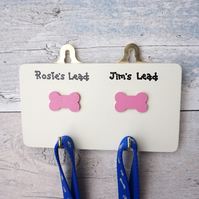 Dog Lead hanger - personalised dog lead hook - Christmas gift for dog owner