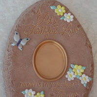 Ceramic Hand Painted Pet Memorial Keepsake Photo Picture Wall Hanging Plaque.