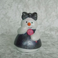 Ceramic Hand Painted Small Christmas Xmas Snow Girl Figurine Ornament Decoration