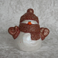 Ceramic Hand Painted Small Christmas Xmas Snowman Ornament Decoration.