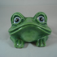 Ceramic Novelty Hand Painted Glasses Spectacles Holder Frog Animal Ornament.