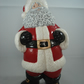 Ceramic Xmas Glittery Santa Claus Father Christmas Figurine Ornament Decoration.