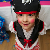 Pirate Girl - dressing upfancy dress costumerole play
