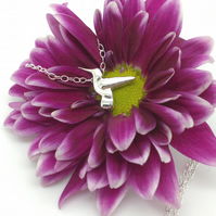 Hummingbird Necklace - Sterling Silver