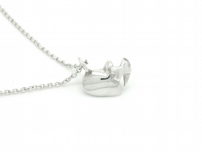Love & Kisses Sterling Silver Heart Pendant