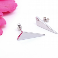 Sterling Silver Triangular Earrings