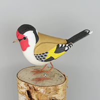 Fabric Bird, GODFREY the GOLDFINCH - Made to Order
