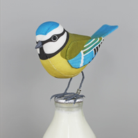 Fabric Bird, BERTIE the BLUE TIT - Made to Order