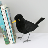Fabric Bird, BILL the BLACKBIRD - Made to Order
