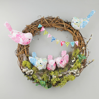 Easter Birds Nest Wreath - Large