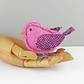 Tweed Fabric Chick Baby Bird Sculpture, handmade figurine PINK - Made to Order